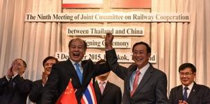 外媒:中國拿下泰國鐵路合同