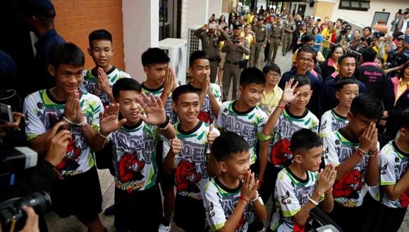 泰國清萊洞穴被解救少年足球隊4人取得國籍